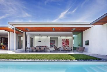 Thin-Profile Cantilevered Roofs