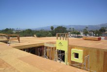 Roof Top Deck Over Elevated Concrete Podium Deck