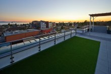 Roof Top Deck Over Elevated Concrete Podium Deck