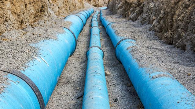 Water utility pipeline