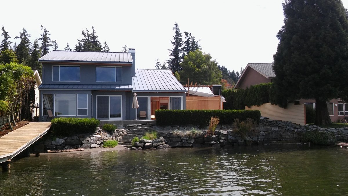 remodeled home on Lake Whatcom in Bellingham