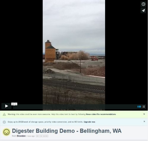 before Port of Bellingham's former Georgia Pacific (GP) demolition
