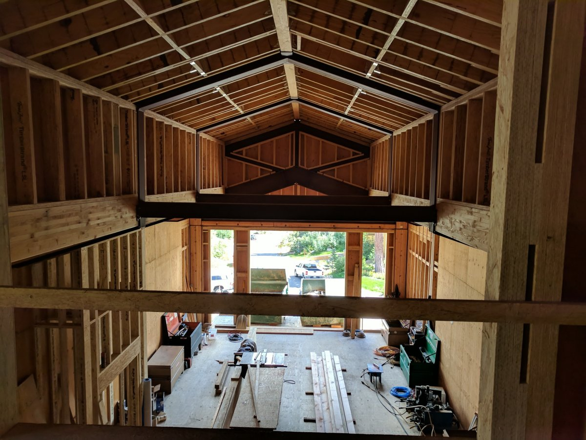 roof framing with steel