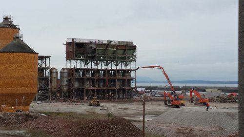 during Port of Bellingham's former Georgia Pacific (GP) demolition