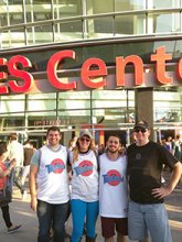 engineers having fun at staples center
