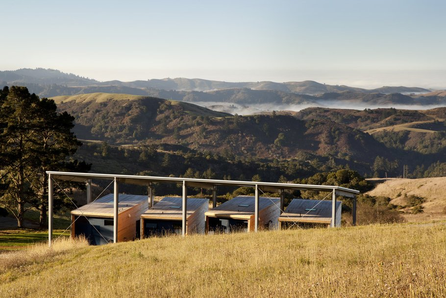 Djerassi Resident Artist Program Studios on the hillside