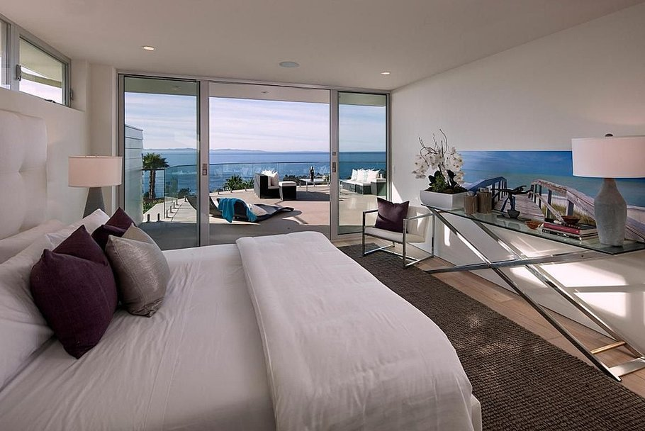 Bedroom of beach home