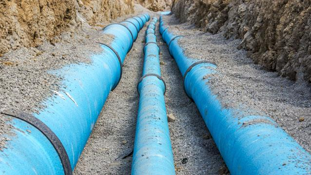 Water utility pipeline